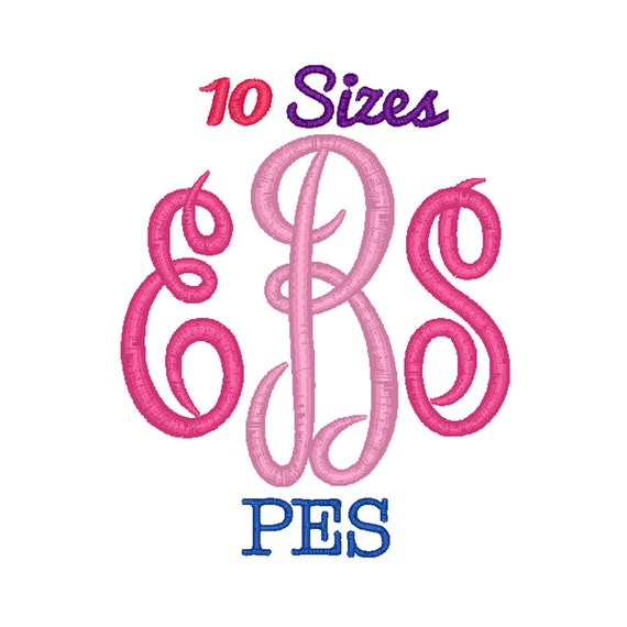 Master Circle Monogram Embroidery Font Machine Embroidery