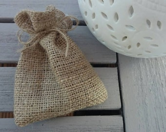100 x hessian wedding favour bags small gift bags plain rustic bag