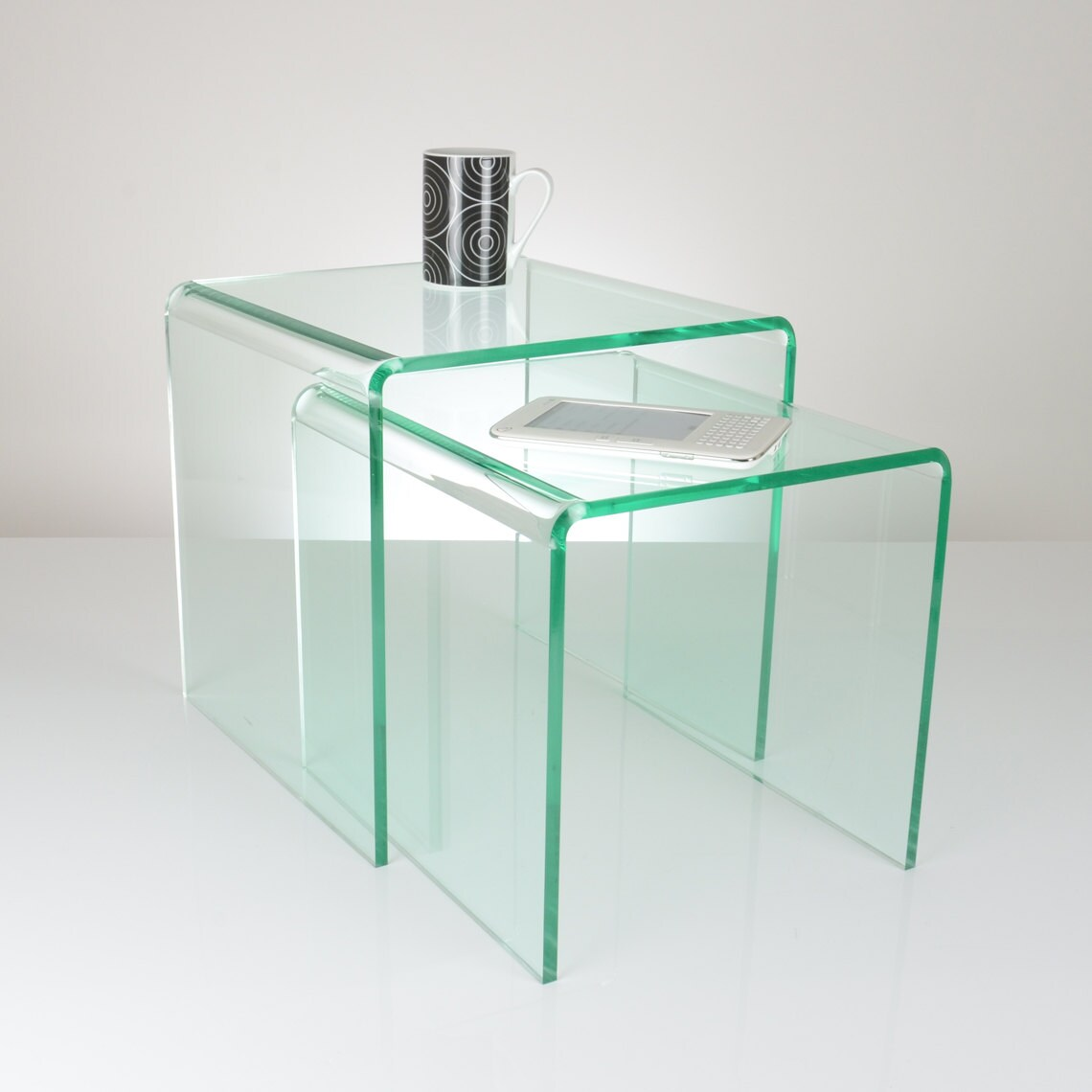 Glass Effect Acrylic Nest Of Tables Premium Acrylic Made
