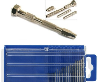 20Pc Drills And GN1162 Swivel Head Pin/Drill 0-2.8mm Vice For Mini Drills, Burrs, Taps & Pins Craft And Jewellery Makers
