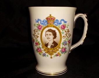 Queen Elizabeth II Coronation Commemorative Cocoa Mug