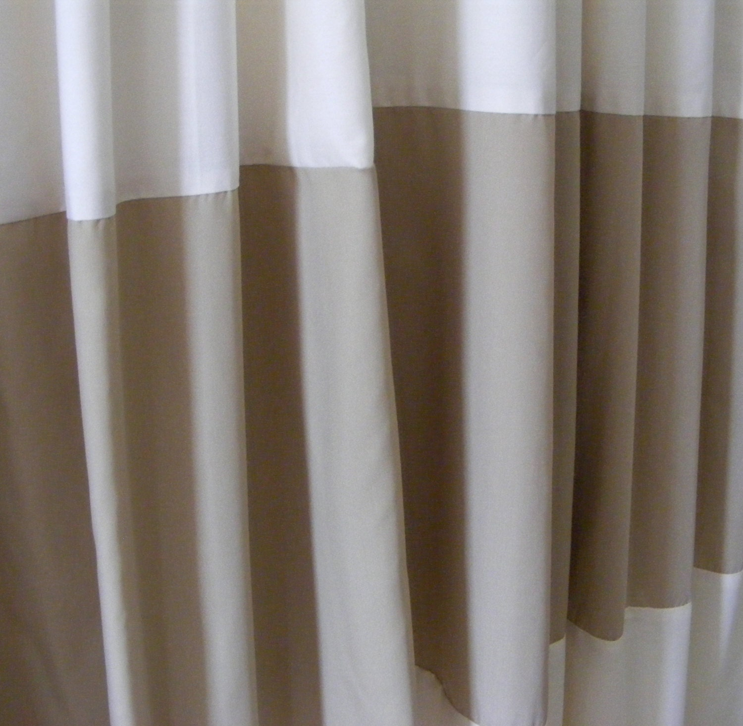 horizontal striped curtain panels khaki beige by