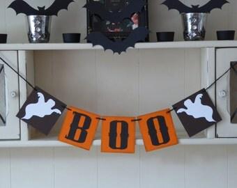 Halloween BOO bunting banner decoration - Halloween photo prop