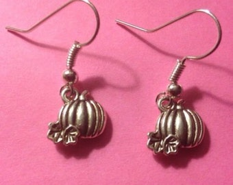 Pumpkin Harvest Earrings-Free Ship
