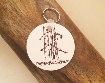 Paper Birch & Pine Keychain