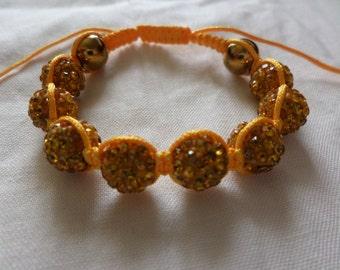 Sunshine Gold - Shamballa Bracelet