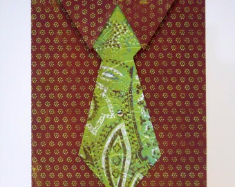 Handmade Card - Grandpa's Tie