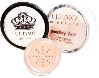 Ultimo Minerals PEACHEY FAIR All-Natural Kosher Full-Coverage Mineral Foundation - Soft Pearlescent Finish - FREE Shipping!