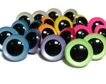 5 Pair of Glow-in-the-Dark Craft Eyes - You Choose The Size & Color