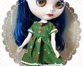 I Love Halloween / One-of-a-Kind Doll Dress for Blythe