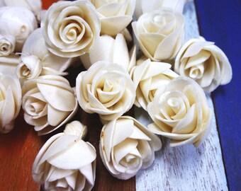 20 Rose Sola Wood Diffuser Flowers 3 cm Dia.