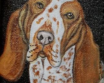 Bracco Italiano Dog Custom Painted Men's Leather Wallet