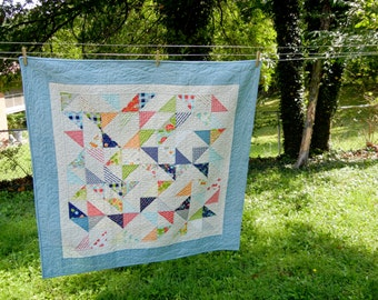 Triangle Baby Quilt - 49 x 49