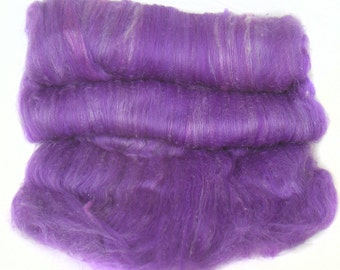 RESERVED for Anne  handcarded batt spinning fiber 3.8 oz