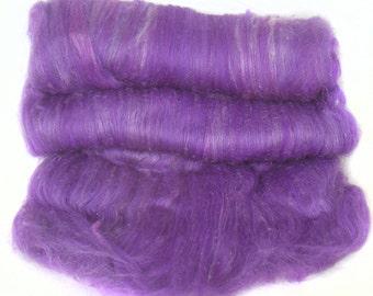 handcarded batt spinning fiber 3.8 oz