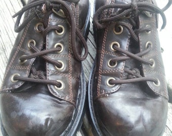 Vintage Grunge 90s Chunky Lace up Oxfords Creepers Shoes Size 7.5