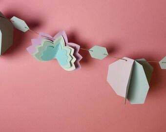 Lotus & Octogon Paper Garland