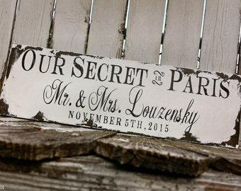 We Eloped | Wedding Sign | Just Married Sign | Eloped | Mr and Mrs Sign | Custom Sign | Create a We Eloped Wedding Card | Secret Wedding