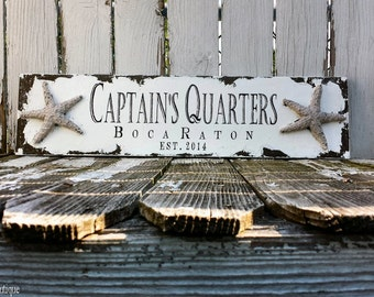 BUSINESS Sign, STARFISH, Custom Business Sign, Home Office Sign, Lake House Sign, Beach Sign, Nautical Sign, Shabby Chic Business Sign, Sign