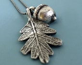 Sterling Silver Acorn and Oak Leaf Necklace