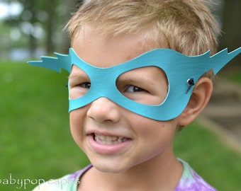 Pleather Superhero mask for kid Party favors