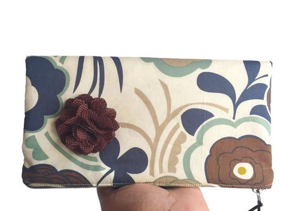 Brown Leather Foldover Clutch Bag,  Mocca Lawn Clutch Purse, Leather Clutch Bag, Womans Clutch Purse, Zipper Pouch, Evening Bag, Brown Bag
