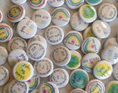 wise buttons for blessing - set of 30 - perfect for backpack blessings - praise God. shine the light. you are loved