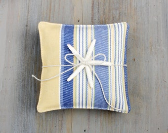 Sea & Sun Striped Lavender Sachets, Modern Style, Beach Cottage Decor