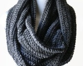 Lightweight Black Grey Circle Scarf Infinity Scarf Charcoal Loop Women Men CHELSEA Ready to Ship Wife Girlfriend Gift - Spring Autumn Fall