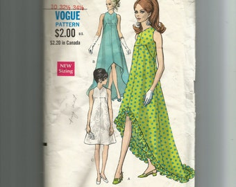 Vogue Misses' Evening Dress In Two Lengths Pattern 7351