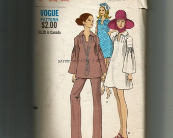 Vogue Maternity One Piece Dress or Top and Pants Pattern 7842