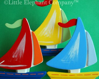 Sail Boat Quilt Clips Set/3