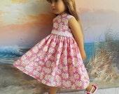 Kidz n Cats Doll Clothes Dress Romantic Pink Daisy Medley