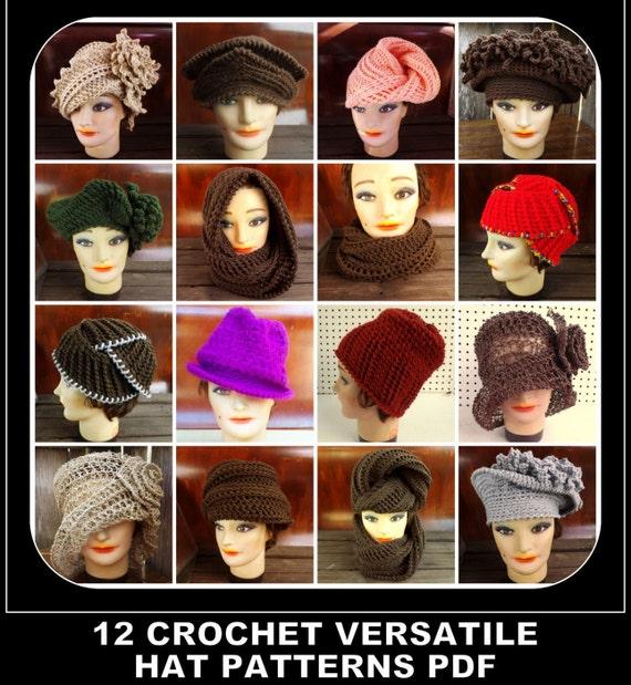 Choose 12 Advanced Patterns, Crochet Hat Patterns, Knit Hat Patterns, Womens Hat Patterns, Scarf Patterns, Womens Sizes, Adult Size Pattern