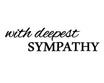 With Deepest Sypathy - UNMOUNTED rubber stamp, simple script, Sweet Grass Stamps #23