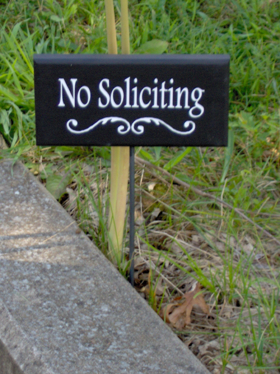 No soliciting decorative swirl wood sign outdoor vinyl yard for Outdoor decorative signs