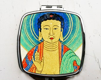 Buddha Compact Pocket Mirror