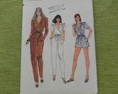 Vintage Vogue 8216 Misses Jumpsuit Sewing Pattern size 10 UNCUT