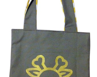 Gold Printed Plushkill Forest Tote