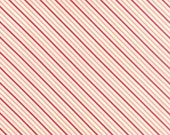Hello Darling - Summer Stripe in Coral and Red: sku 55112-11 cotton quilting fabric by Bonnie and Camille for Moda Fabrics - 1 yard