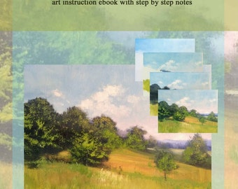 e-Book PDF article on Painting Trees and a Vista - Oil Landscape Demonstration