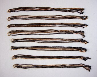 Eight Awesome and Very Long Four Chain Strands Jewelry Components