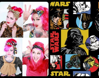 Star Wars Bandana, Star Wars HeadWrap, Star Wars Bow Tie Bandana