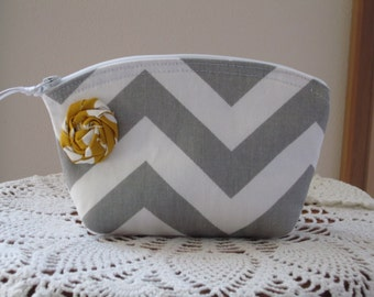 Bridesmaid Wedding Clutch Cosmetic Bag  Purse Chevron Essential Oil Case Made in USA Design Your Own