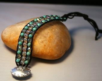 Beaded Cord Bracelet - Women's Beaded Macramé Bracelet - Ready to Ship
