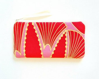 Zipper Pouch, Coin Purse, Small Wallet, Women and Teens, Shadow in Rose, Anna Maria Horner