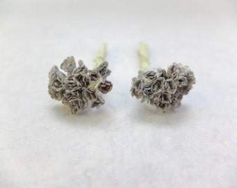 40 5mm grey mulberry paper gypsophila - tiny paper flowers - grey paper flowers