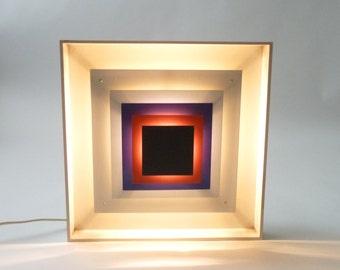 RESERVED  Danish Modern Op Art Lamp  Kvadrille Lyfa Bent Karlby Mid Century Modern 1960s 1970s
