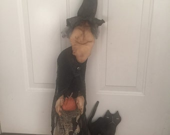 Primitive Halloween old crone which ready to ship