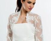 Lace Bridal Bolero, Lace Wedding Bolero, Bridal Jacket